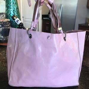 INCA BY Stephanie Hirsch pink leather tote